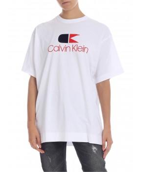 T-SHIRT LOGO BIANCA - T-Shirt&Top CALVIN KLEIN