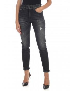 JEANS MILA NERO SLAVATO - Jeans&Denim DONDUP