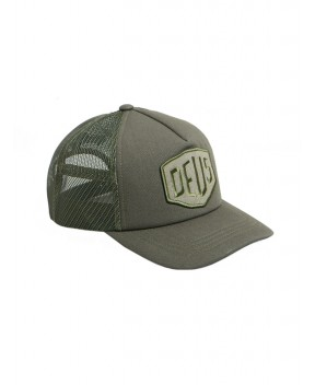 CAPPELLO TERRY SHIELD TRUCKER VERDE MILITARE - Cappelli DEUS EX MACHINA