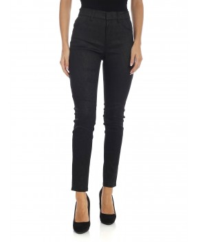 LEGGINGS APPETITE IN LUREX NERO - Pantaloni DONDUP