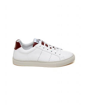 SNEAKERS EDITION 4 LOW BIANCHE E BORDEAUX - Sneakers NATIONALSTANDARD
