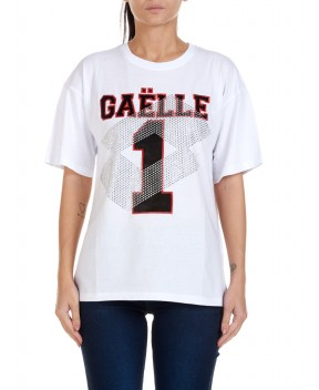 T-SHIRT BIANCA CON STRASS - T-Shirt&Top GAELLE X LOTTO