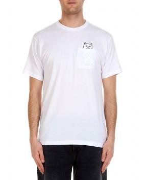 T-SHIRT LORD NERMAL BIANCA CON TASCHINO - T-Shirt RIPNDIP