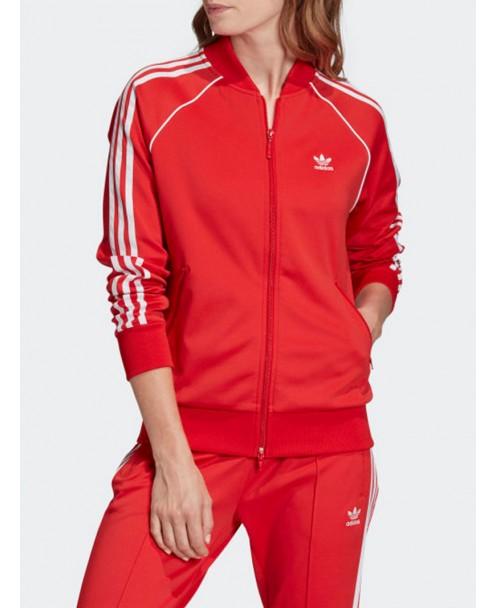 felpa adidas rossa zip