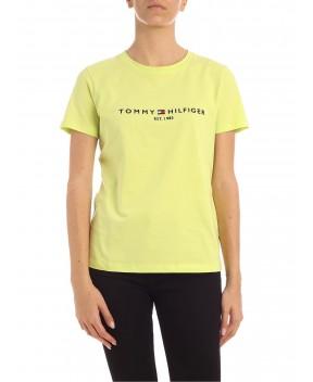 T-SHIRT VERDE LIME CON LOGO - T-Shirt&Top TOMMY HILFIGER