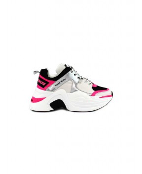 SNEAKERS TRACK BIANCHE E FUCSIA - Sneakers NAKED WOLFE