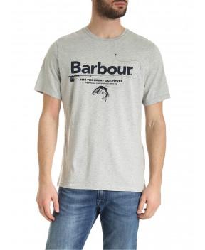 T-SHIRT OUTDOORS GRIGA MELANGE - T-Shirt BARBOUR