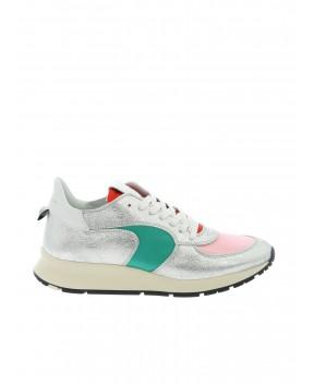 SNEAKERS MONTECARLO LOW ARGENTO - Sneakers PHILIPPE MODEL