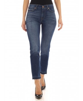 JEANS ROXANNE ANKLE UNROLLED BLU - Jeans 7 FOR ALL MANKIND