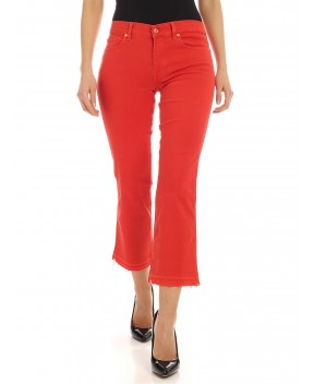 JEANS CROPPED BOOT UNROLLED ROSSO - Jeans&Denim 7 FOR ALL MANKIND