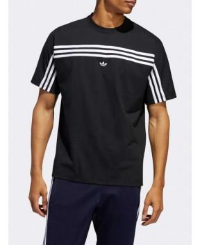 T-SHIRT 3 STRIPE NERA - T-Shirt ADIDAS