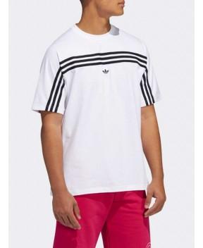 T-SHIRT 3 STRIPE BIANCA - T-Shirt ADIDAS