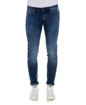JEANS 517 BLU CON STRAPPI - Jeans ROY ROGERS