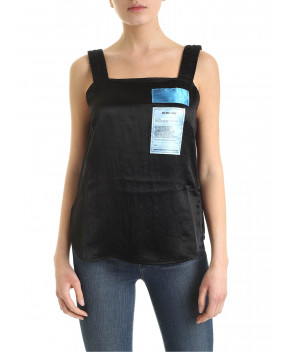 TOP NERO CON TOPPE - T-Shirt&Top HELMUT LANG