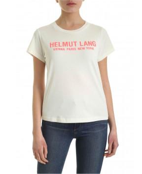 T-SHIRT AVORIO CON LOGO - T-Shirt&Top HELMUT LANG