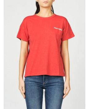 T-SHIRT VINTAGE COTTON ROSSA - T-Shirt&Top RAG & BONE