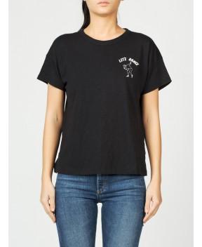 T-SHIRT IN COTONE VINTAGE NERA - T-Shirt&Top RAG & BONE