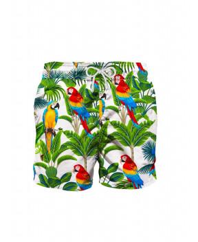 COSTUME GUSTAVIA STAMPA PAPPAGALLI - Costumi&Beachwear MC2 SAINT BARTH