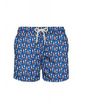 COSTUME LIGHTING BLU HAPPY HOUR - Costumi&Beachwear MC2 SAINT BARTH
