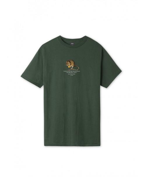 T-SHIRT RAT RACE VERDE - T-Shirt HUF