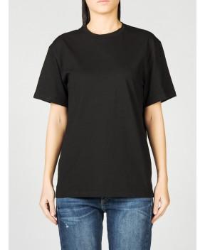 T-SHIRT IN COTONE NERA - T-Shirt&Top WEILI ZHENG