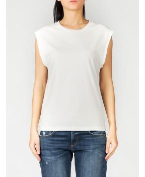 TOP BIANCO - T-Shirt&Top WEILI ZHENG
