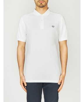 POLO PLAIN BIANCA - Polo FRED PERRY