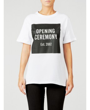 T-SHIRT UNISEX IN COTONE BIANCA - T-Shirt&Top OPENING CEREMONY