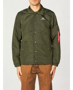 BOMBER COACH VERDE MILITARE - Abbigliamento ALPHA INDUSTRIES