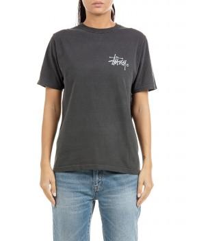 T-SHIRT BASIC LOGO NERA - T-Shirt&Top STUSSY