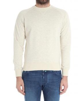 FELPA IN COTONE BIANCA - Abbigliamento ASPESI