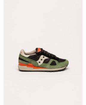 SNEAKERS SHADOW ORIGINAL NERO/VERDE - Sneakers SAUCONY