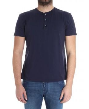 T-SHIRT SERAFINO IN COTONE BLU - T-Shirt BARENA