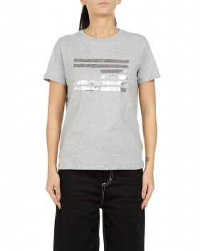 T-SHIRT GRIGIA MELANGE - T-Shirt&Top TOMMY HILFIGER ICONS