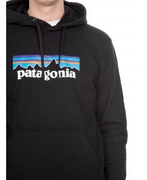 FELPA P-6 LOGO UPRISAL NERA CON CAPPUCCIO - Felpe PATAGONIA